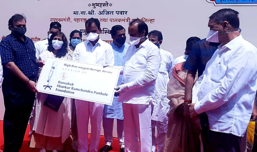 raosaheb shankar ramchandra Panhale FOUNDATION distribute High Flow oxygen therapy device